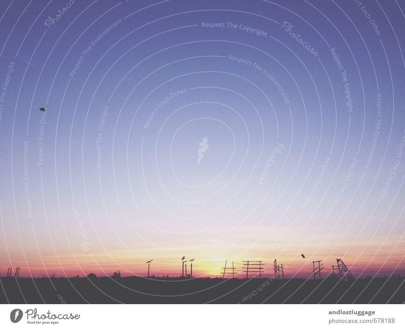 Wetter | schön ist der abend (2014) Natur Landschaft Horizont Sonnenaufgang Sonnenuntergang Frühling Klima Park Berlin Menschenleer Sehenswürdigkeit Flughafen