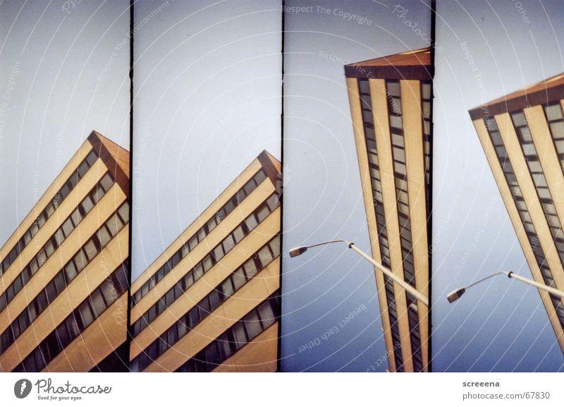 Glimpse Himmel weiß Haus Fenster orange Wohnung Hochhaus Hotel Laterne Potsdam Neubau