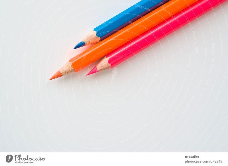 Kind blau weiß Freude sprechen Stil Denken Schule rosa Arbeit & Erwerbstätigkeit orange Business Lifestyle Büro Design Erfolg