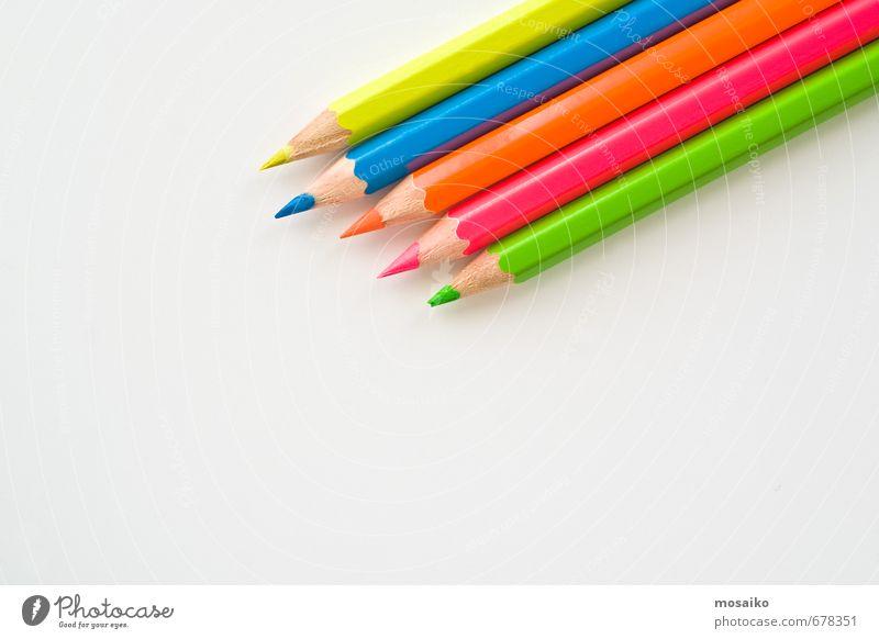Buntstifte Lifestyle elegant Stil Design Freude Bildung Wissenschaften Erwachsenenbildung Arbeit & Erwerbstätigkeit Beruf Arbeitsplatz Büro Business Karriere