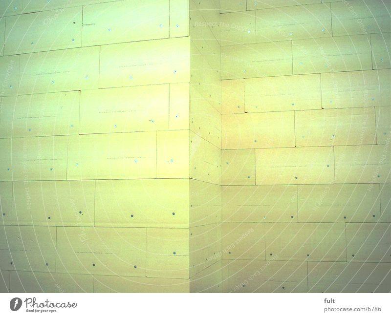 Fassade gelb Neubau Architektur Glaswolle