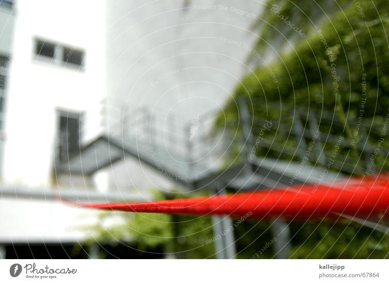 roter faden IX rot Sommer Wand Garten Treppe Kurve aufwärts Nähgarn Orientierung Nähen stricken Leitfaden