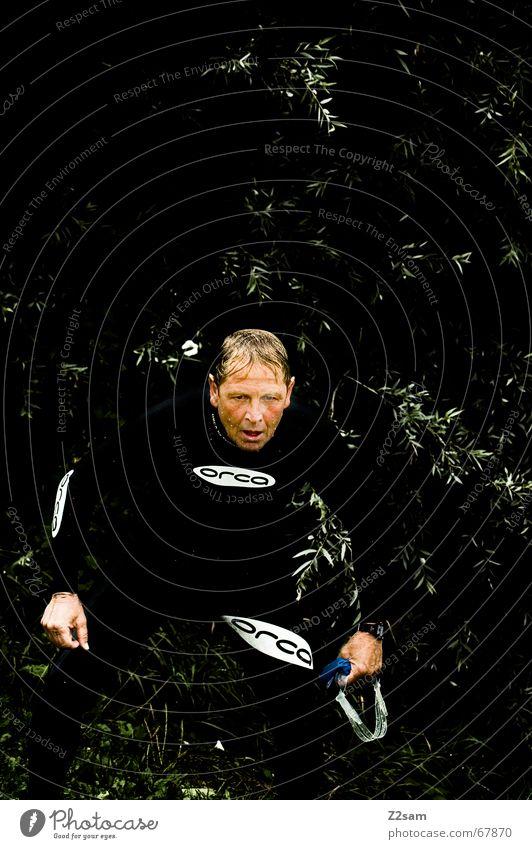 Mr. Orca Mann Sport nass Anzug Amerika sportlich Schwimmsportler Wal Neopren Schwimmbrille