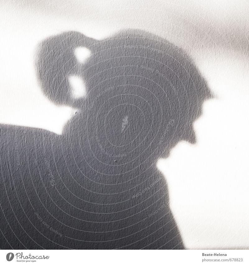 dämonische Schattenspiele Haare & Frisuren außergewöhnlich trist feminin schwarz weiß Einsamkeit Profil Silhouette Schattendasein Teufel Halbprofil Lichteinfall