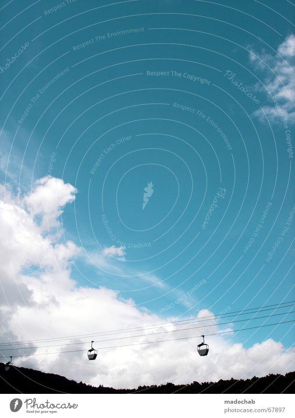 ROMANTIK LIEGT IN DER LUFT Himmel Natur schön Wolken Erholung Berge u. Gebirge Ausflug Tourismus Aussicht Richtung Schönes Wetter aufwärts Weinberg Hessen Gondellift Seilbahn