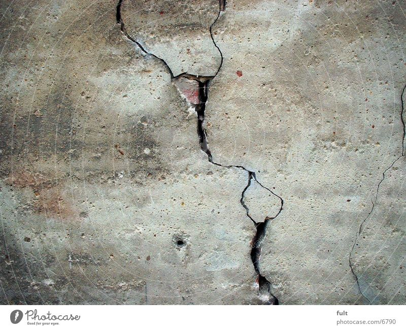 Riß Mauer Architektur kaputt Riss Putz