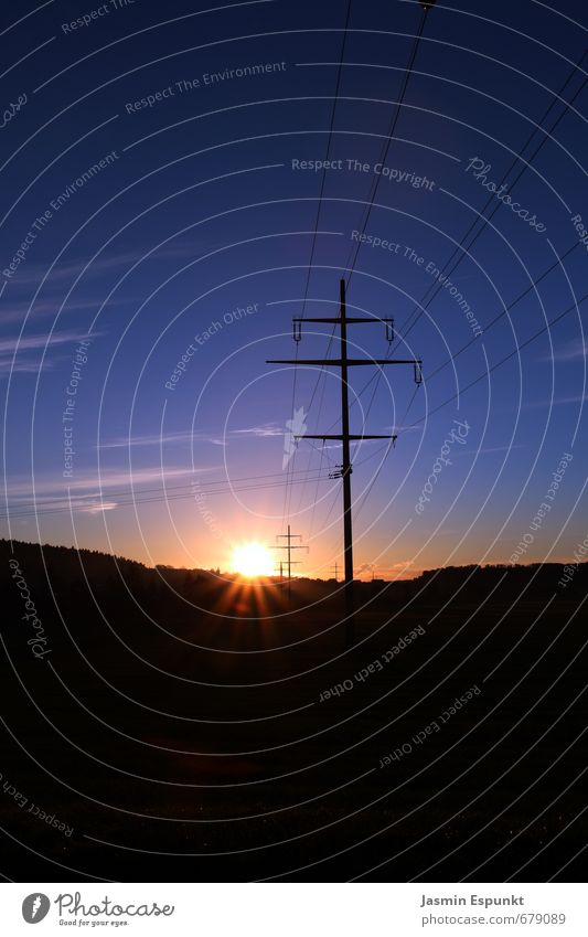 Sonnenuntergang Landschaft Himmel Wolken Horizont Sonnenaufgang Sonnenlicht Schönes Wetter Feld Farbfoto Außenaufnahme Menschenleer Textfreiraum oben