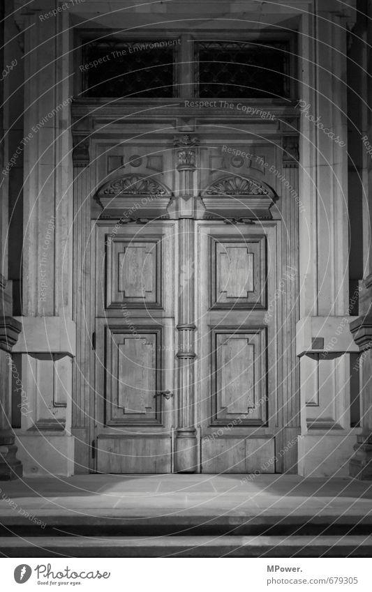 haustür Stadt Altstadt Haus Kirche Dom Palast Burg oder Schloss Tor Bauwerk Gebäude Architektur Tür alt Holz geschnitzt Sandstein Schutz geschlossen Sicherheit