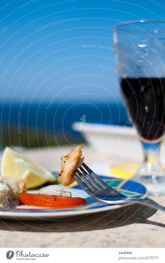 Schonkost im pc-Seniorenheim blau Sommer Meer Erholung Gesunde Ernährung Senior Glück Horizont Glas 60 und älter 50 plus genießen Ernährung schlafen Wein Sonnenbad