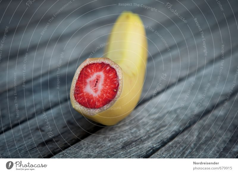Früchtchen Lebensmittel Frucht Bioprodukte Vegetarische Ernährung Wissenschaften Fortschritt Zukunft Diät Essen blau gelb rot Zukunftsangst Hemmungslosigkeit