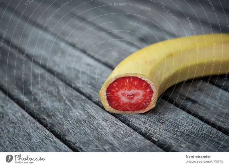 Was geht....wird auch gemacht.... rot gelb Gesunde Ernährung grau Holz Essen außergewöhnlich Lebensmittel Frucht Erfolg Kreativität Bioprodukte exotisch skurril