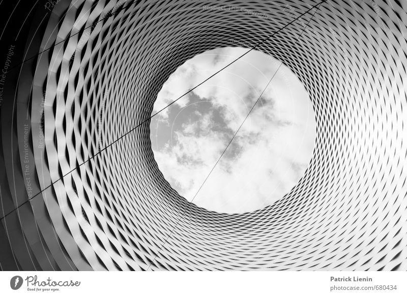 Tunnelblick Stadt Ferne Architektur Gebäude Linie Stimmung Business Kraft Design Zufriedenheit Perspektive Kreativität Idee Dach einzigartig Unendlichkeit