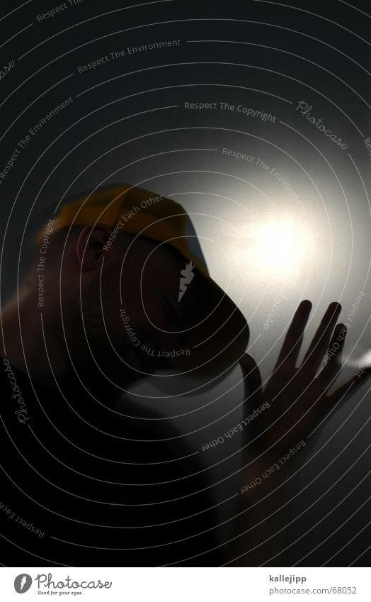 der martin I Mensch Hand Kopf Lampe Mütze Fensterscheibe Außerirdischer Scan Fotokopierer Milchglas Baseballmütze