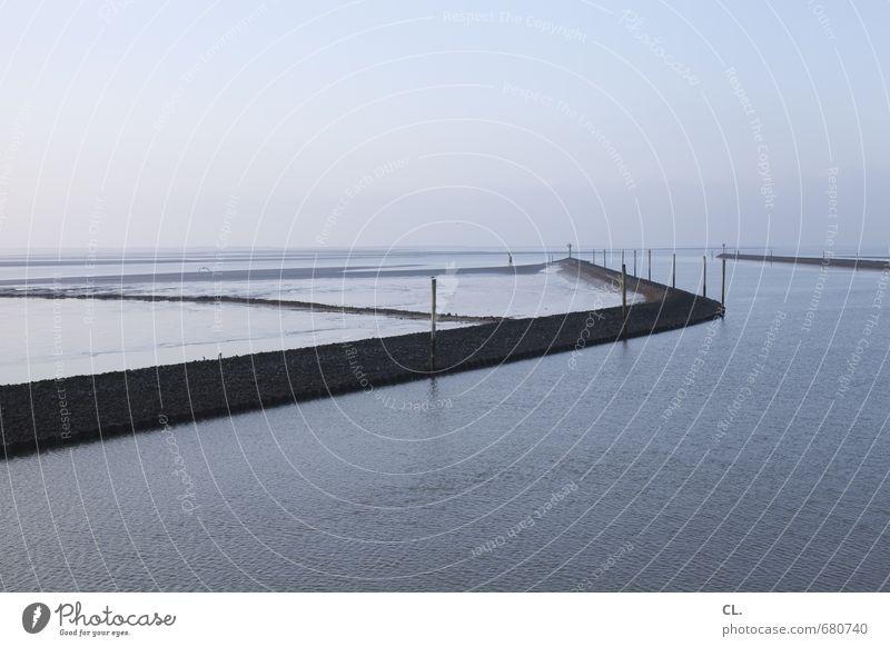 ankunft Ferien & Urlaub & Reisen Tourismus Ausflug Freiheit Meer Insel Umwelt Natur Landschaft Wasser Himmel Schönes Wetter Wellen Küste Nordsee ruhig Sehnsucht