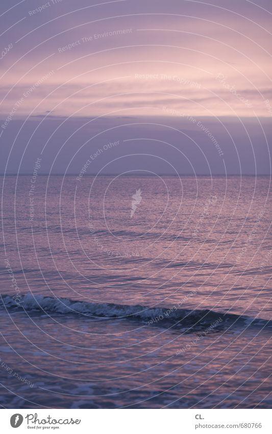 wellen und wolken Himmel Natur Ferien & Urlaub & Reisen Wasser Meer Erholung Landschaft ruhig Wolken Ferne Strand Umwelt Küste Horizont Wellen Tourismus