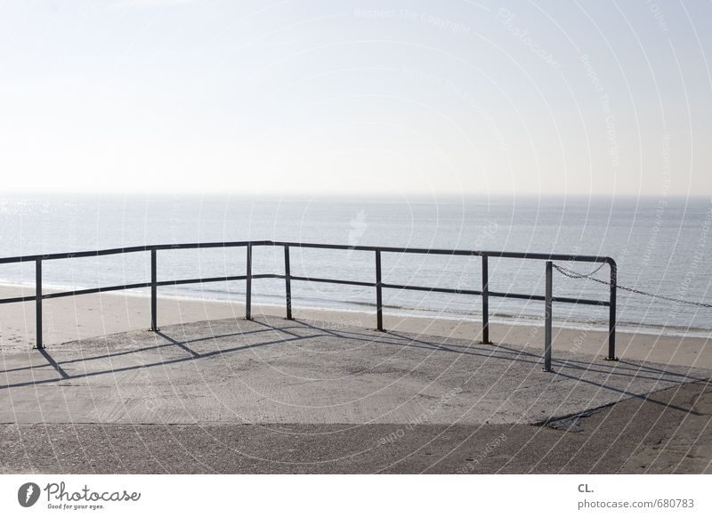 the great escape Himmel Natur Ferien & Urlaub & Reisen Wasser Sommer Sonne Meer Landschaft ruhig Ferne Strand Umwelt Küste Freiheit Wellen Tourismus