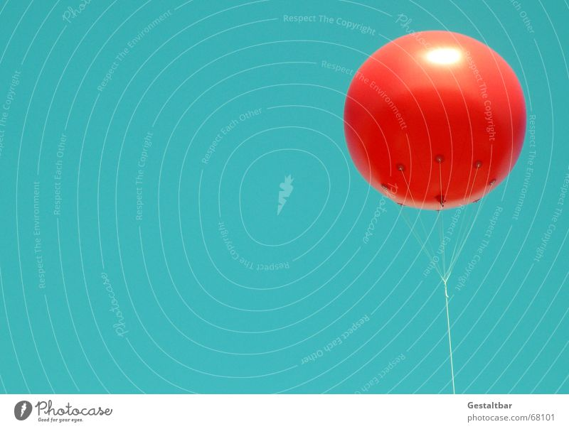 Ballon mit PC-Himmel grün rot Sommer Freiheit Raum Instant-Messaging Luftballon Tick