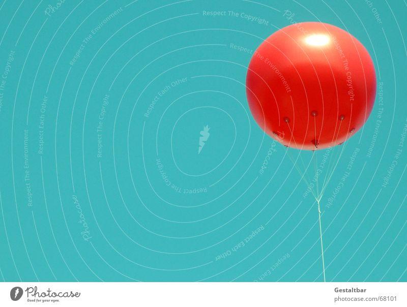 Ballon mit PC-Himmel Himmel grün rot Sommer Freiheit Raum Instant-Messaging Luftballon Tick