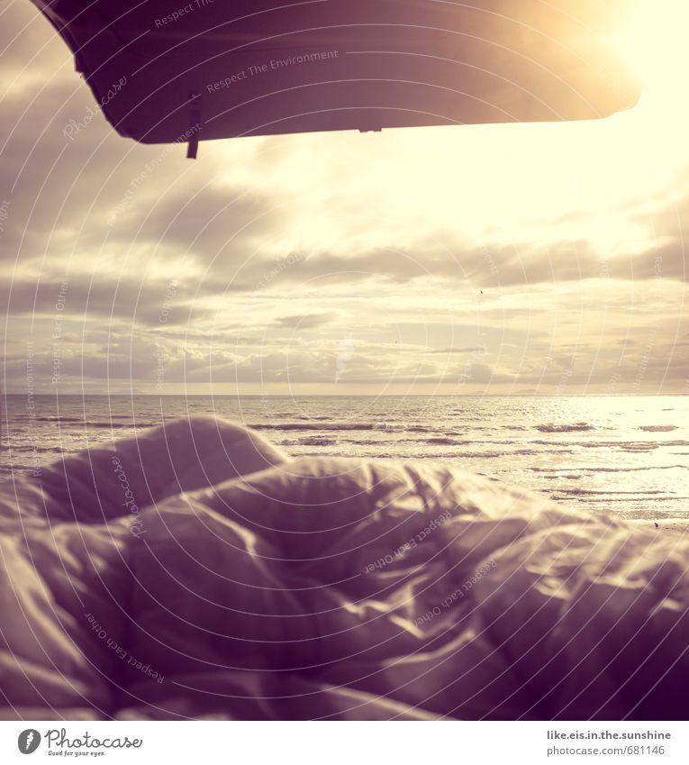 guten morgen sonnenschein Natur Ferien & Urlaub & Reisen Sommer Sonne Meer Erholung Landschaft Ferne Strand Umwelt Küste Freiheit Glück Freizeit & Hobby Lifestyle Wellen