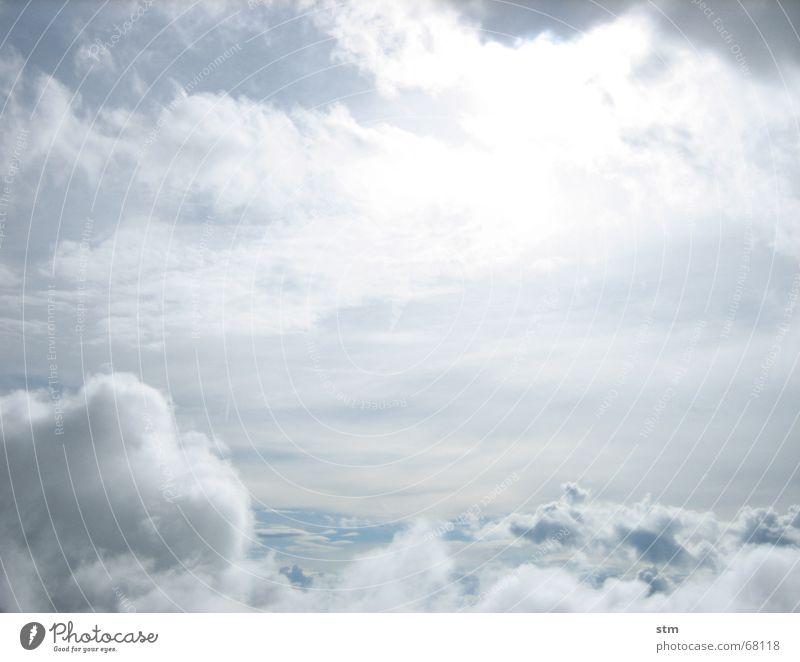 lost 09 Himmel Sonne Ferien & Urlaub & Reisen Wolken Ferne wandern fliegen verloren Schweben Schleier Kumulus