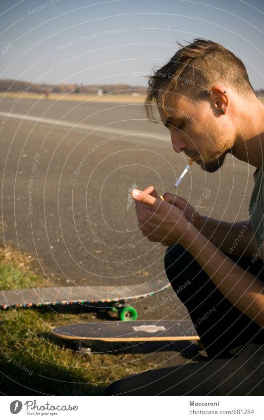 Ziggi Pause Mensch Jugendliche Erholung 18-30 Jahre Junger Mann Erwachsene Leben Sport Freizeit & Hobby maskulin genießen Coolness Abenteuer Lebensfreude