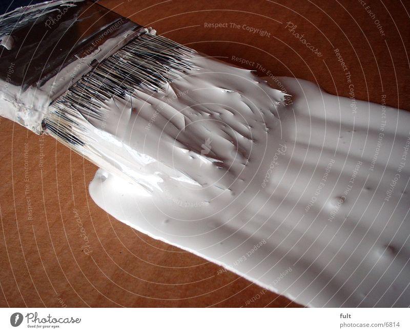 Pinsel-1 weiß Farbe Arbeit & Erwerbstätigkeit Holz Flüssigkeit Handwerk Pinsel Borsten