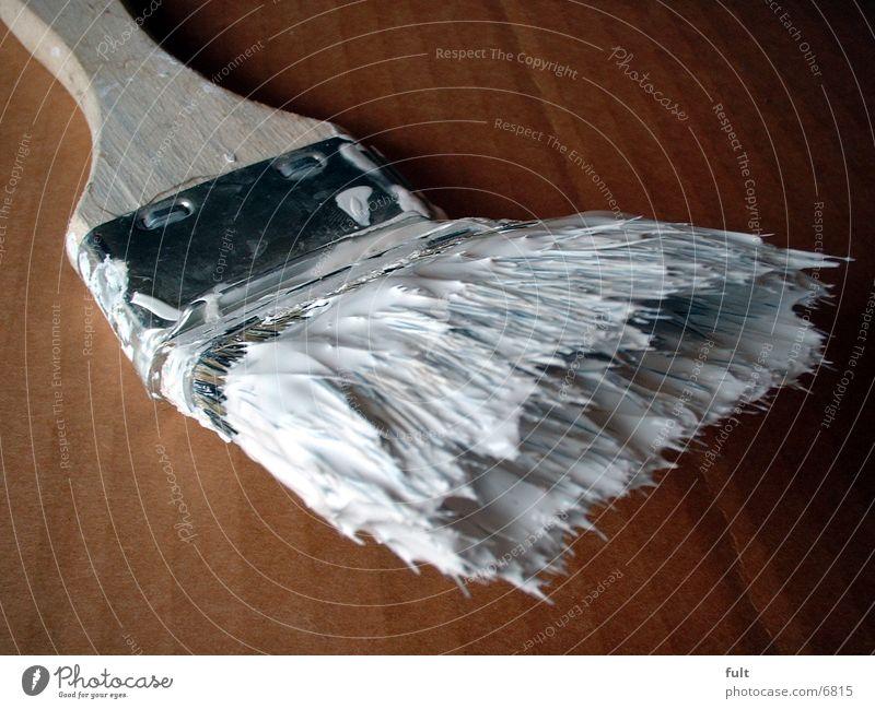 Pinsel-3 weiß Farbe Arbeit & Erwerbstätigkeit Holz Flüssigkeit Handwerk Borsten