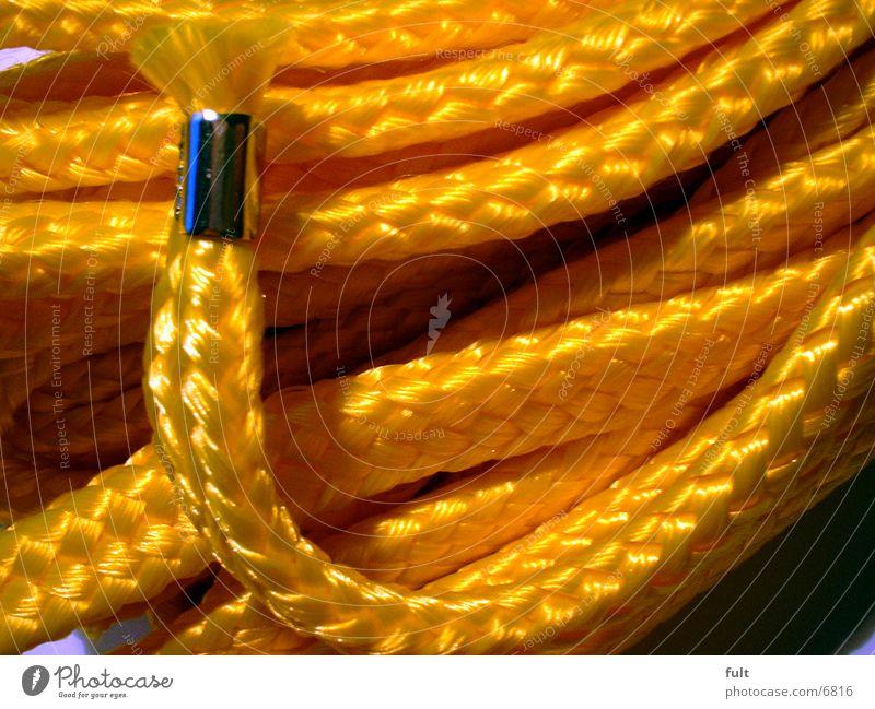 Seilanfang gelb Seil Beginn Ende Dinge Stoff