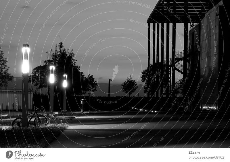 light view Straße Architektur Wege & Pfade Asphalt Laterne