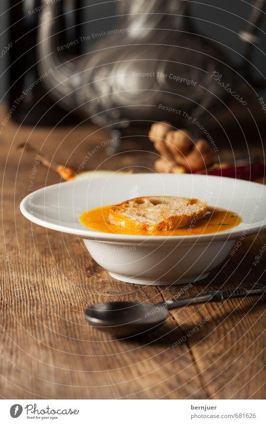 Haddu Möhrchen Lebensmittel Frucht Brot Ernährung Vegetarische Ernährung Slowfood Teller Löffel Stil Gesunde Ernährung frisch Gesundheit Billig gut heiß orange