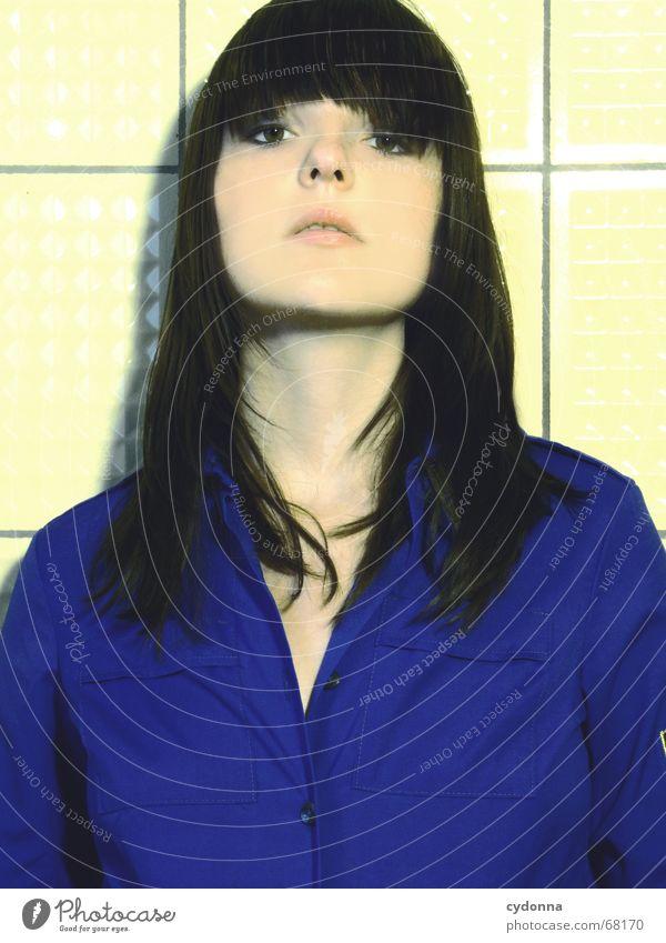 So war das in der DDR... #2 Frau Mensch schön Kopf Haare & Frisuren Stil Mode retro Fliesen u. Kacheln Hemd Kosmetik Gesichtsausdruck vergangen Pionier stumm