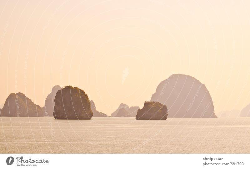 Sunrise @ Halong Bay Ferien & Urlaub & Reisen Sommer Sonne Meer Erholung Ferne Strand gelb Gefühle natürlich außergewöhnlich Wellen Tourismus Insel Ausflug