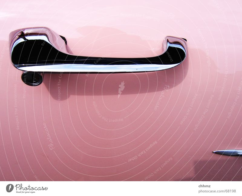 Pink PKW rosa Amerika Kunststoff Fahrzeug Nostalgie Griff Oldtimer Lack Holzleiste Cabrio