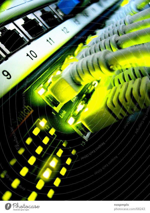 .lan Verbindung grün Computernetzwerk cable Informationstechnologie Kabel Netzwerkkabel network cable
