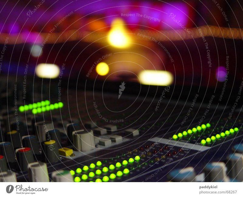 Die gute alte Verona schön Musik Niveau Veranstaltung harmonisch Ton Ambiente Leuchtdiode Musikmischpult fade Lautstärke