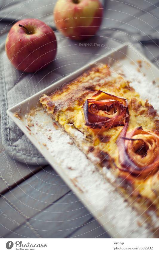 Äpfel-Rosen-Tarte Frucht Ernährung süß Süßwaren lecker Apfel Kuchen Dessert