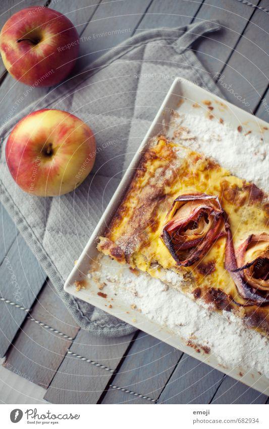 Tarte Frucht Ernährung süß Süßwaren lecker Apfel Kuchen Dessert