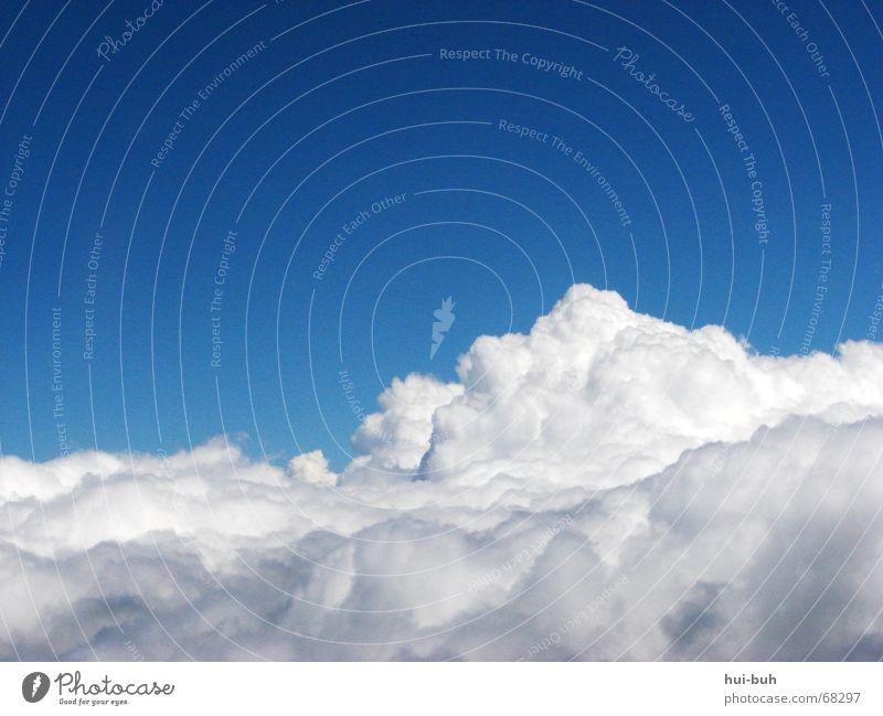 über den wolken.. Wolken weiß Lied Flugzeug Blick Sturm Hanf blau Schatten Himmel Stimmung Schönes Wetter wolkenhaft wolkenflug Regen Turm