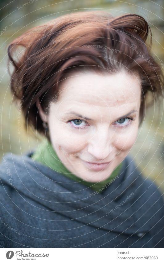 Bad hair don't care Lifestyle Mensch feminin Junge Frau Jugendliche Erwachsene Leben Kopf Gesicht 1 18-30 Jahre Haare & Frisuren brünett kurzhaarig Lächeln