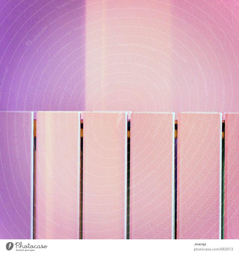 ||||| Lifestyle elegant Stil Design Innenarchitektur Linie Streifen außergewöhnlich Coolness einfach hell trendy modern violett rosa ästhetisch Farbe Präzision