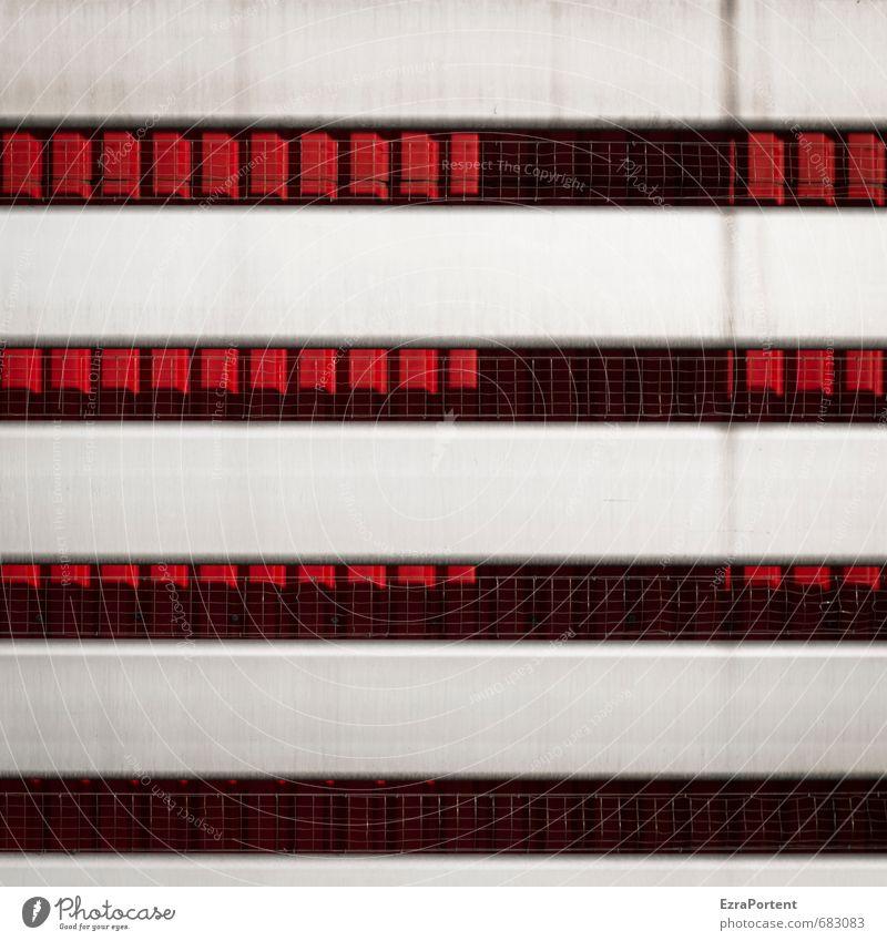 ICC Industrie Kunst Haus Bauwerk Gebäude Architektur Mauer Wand Fassade Metall Linie Coolness grau rot graphisch Grafik u. Illustration Grafische Darstellung