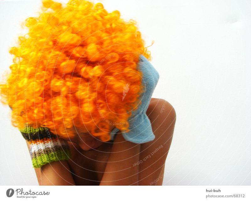 geh weg- der clown drei Auge Haare & Frisuren Angst Nase Ohr Schulter Handschuhe demütig ducken Perücke Feindschaft gestrickt
