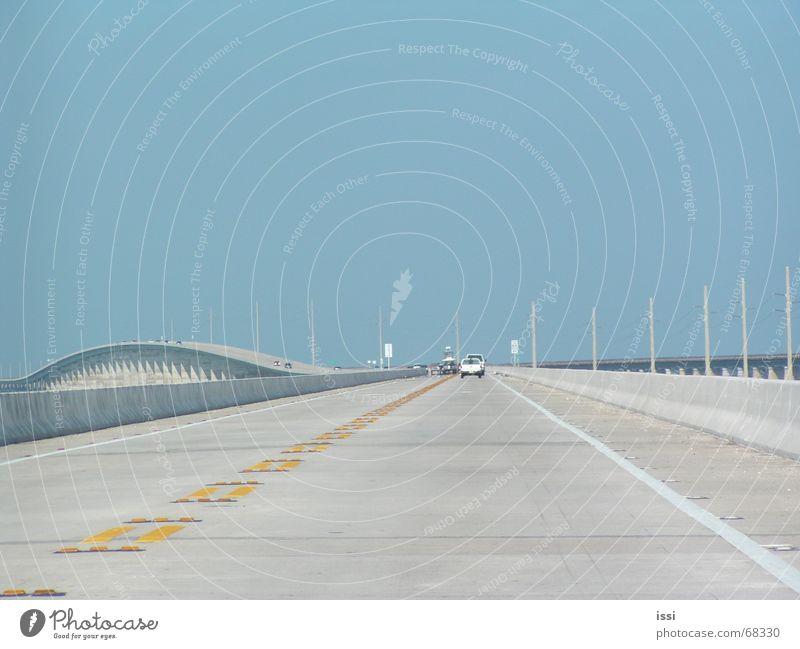 road to key west Amerika Key West Autobahn Florida Straße Himmel blau Brücke