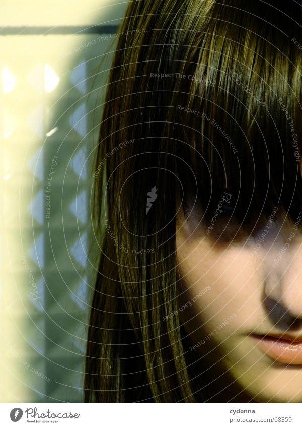 Gesicht II Frau Mensch schön Gesicht Kopf Haare & Frisuren Stil retro Model Kosmetik Gesichtsausdruck vergangen stumm