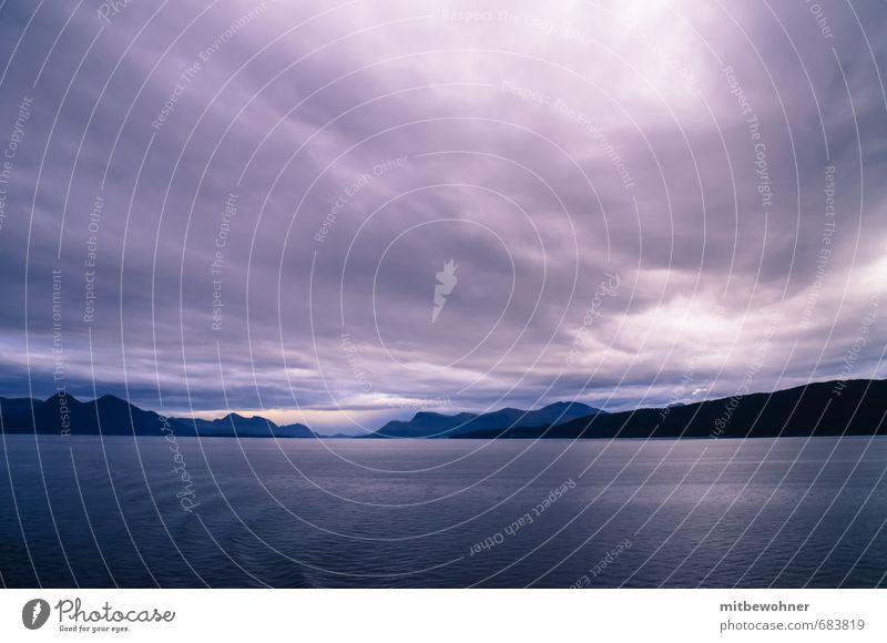 Der Morgen naht Himmel Natur Ferien & Urlaub & Reisen Wasser Meer Einsamkeit Landschaft Wolken Ferne dunkel Umwelt Tod Frühling Stimmung Horizont Luft
