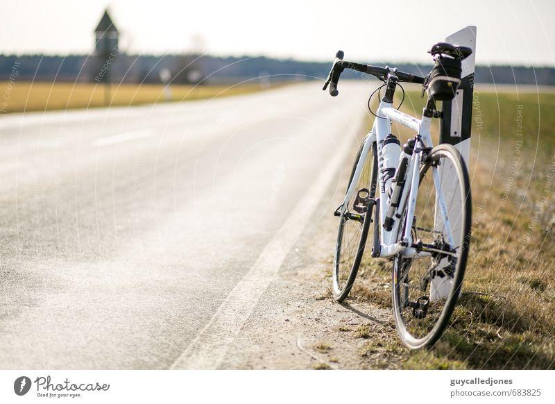Rennrad Tour Sonne Freude Umwelt Leben Straße Bewegung Wege & Pfade Sport Frühling Gesundheit warten Tourismus Ausflug Fitness Abenteuer Lebensfreude