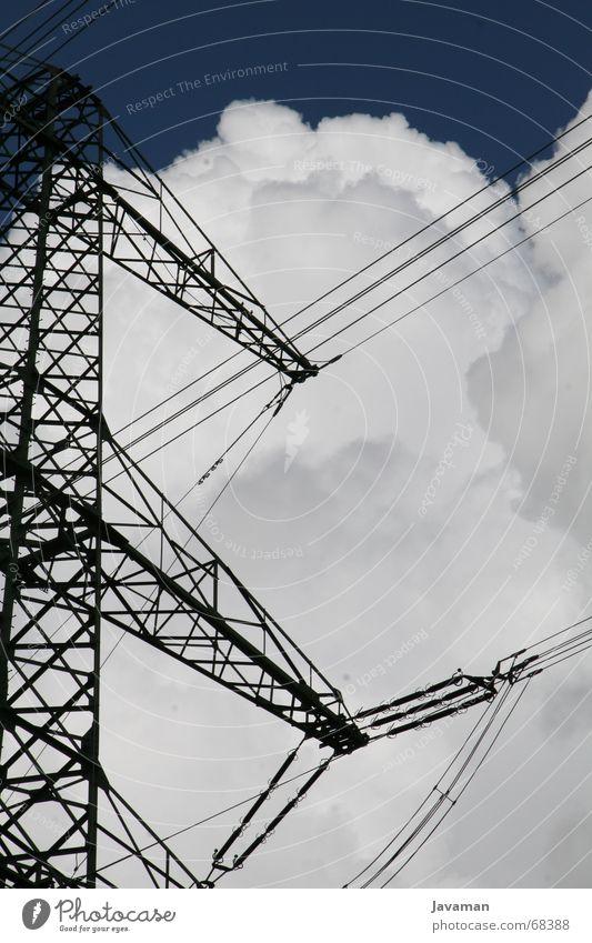 Umspannwerk² Himmel Wolken Energiewirtschaft Elektrizität elektronisch Smog