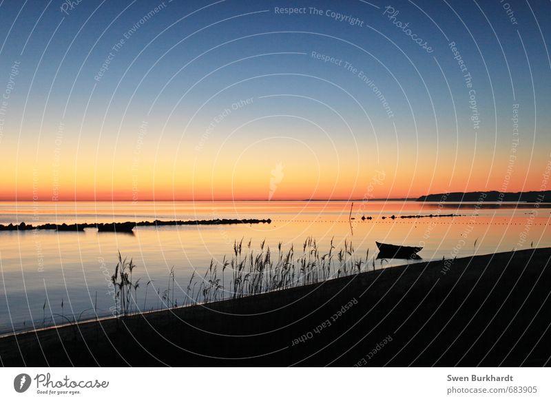 Meine Heimat - Insel Rügen Himmel Natur Ferien & Urlaub & Reisen blau Wasser Sommer Meer Erholung Landschaft ruhig Ferne Strand Umwelt Horizont orange Tourismus