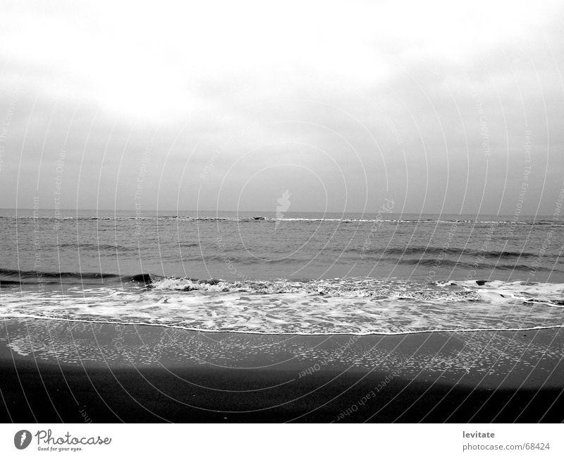 winter-sea Himmel Meer Strand Wolken Ferne dunkel kalt Freiheit grau