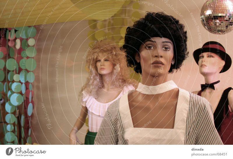 stimmung! Disco Karneval Kaufhaus Schaufensterpuppe ruhig Party Statue Dekoration & Verzierung ausdruckslos starre Puppe statisten Kitsch trashig Partygast